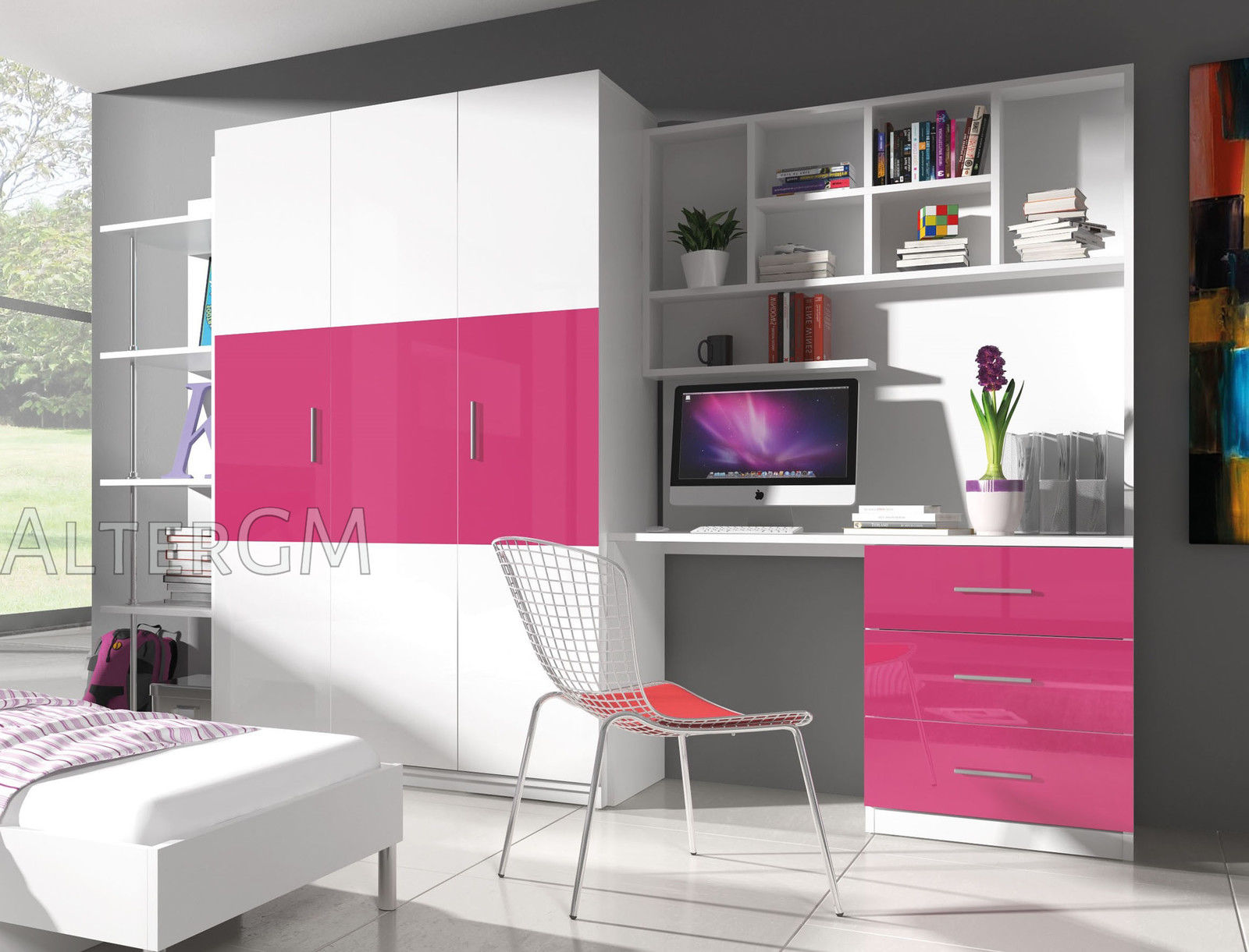 Wall Unit Cabinet Living Study Bedroom Room Furniture